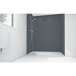Wickes Cadet Matte Acrylic 3 Sided Shower Panel Kit - 1700 x 900mm