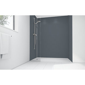 Wickes Cadet Matte Acrylic 3 Sided Shower Panel Kit - 900 x 900mm