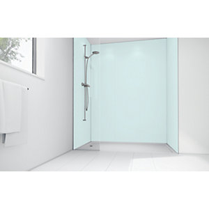 Wickes Mint Matte Acrylic 3 Sided Shower Panel Kit - 1700 x 900mm