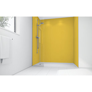 Wickes Sunflower Matte Acrylic 3 Sided Shower Panel Kit - 1200 x 900mm
