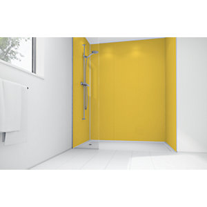 Wickes Sunflower Matte Acrylic 3 Sided Shower Panel Kit - 1700 x 900mm