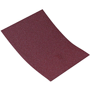 Wickes Aluminium Oxide Cloth-Backed Assorted Sandpaper Sheets - Pack of 3
