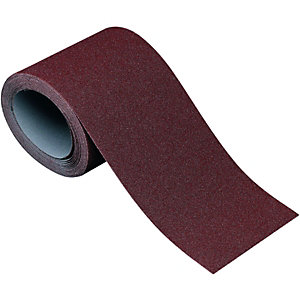 Wickes Aluminium Oxide Cloth-Backed Coarse Sandpaper Roll - 5m