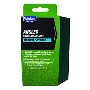 Wickes Angled Sanding Sponge - Medium/Coarse