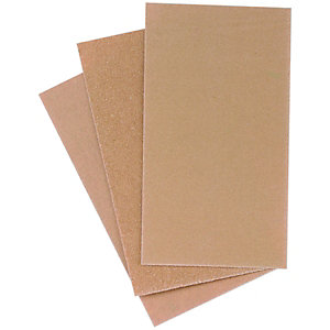 Wickes Sanding Block Paper Assorted Sheets - Pack of 12