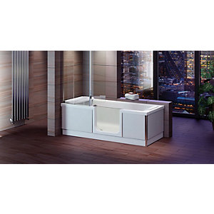 Wickes Style Left Hand Easy Access Bath - 1700 x 700mm