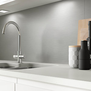 AluSplash Splashback - Silver Brushed