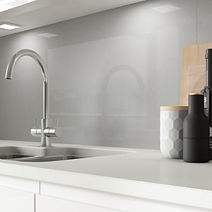 AluSplash Splashback - Space Silver