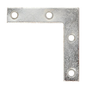 Wickes Zinc Plated Angle Plate 75mm Pack 4
