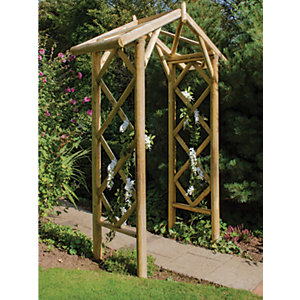 Forest Garden Forest Rose Classical Wooden Garden Arch - 1671 x 700mm