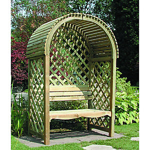 Rowlinson Victoria Curved Roof Trellis Garden Arbour - 340 x 800 mm