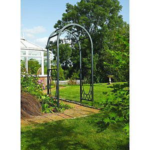 Rowlinson Wrenbury Steel Lattice Curved Garden Arch - 1100 x 610 mm