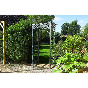 Rowlinson Wrenbury Steel Square Garden Arch - 1400 x 750 mm