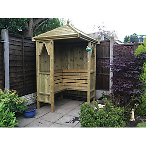 Wickes Honeysuckle Corner Garden Arbour - 1250 x 1250 mm