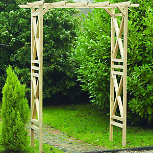 Wickes Modern Wooden Square Garden Arch - 1800 x 920 mm