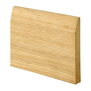 Wickes Chamfered Oak Veneer MDF Skirting 15 x 120 x 2400mm