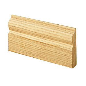 Wickes Torus Oak Veneer MDF Architrave - 15mm x 69mm x 2.1m Pack of 5