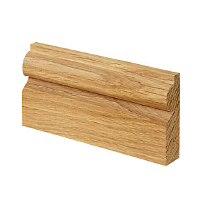 Wickes Torus Solid Oak Architrave - 19mm x 69mm x 2.1m Pack of 5