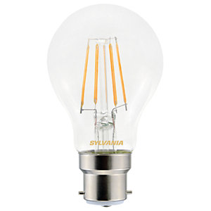 Sylvania LED GLS Non Dimmable Clear Filament Bulb - 4.5W B22 470lm