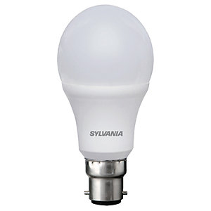 Sylvania LED GLS Non Dimmable Frosted Bulb - 8.5W B22 806lm Pack of 4