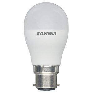 Sylvania LED Non Dimmable Frosted Mini Globe B22 Light Bulb - 8W