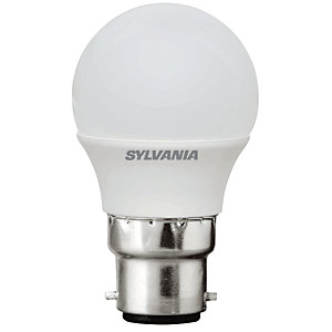 Sylvania LED Non Dimmable Frosted Mini Globe Bulb - 5W B22 470lm