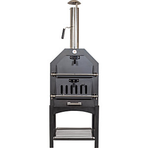 Black Finish Multi Function Pizza Oven