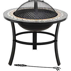 La Hacienda Skyros Traditional Tiled Outdoor Firepit