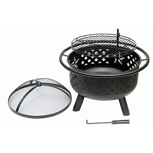 Landmann Crossfire Charcoal Fire Pit - Black