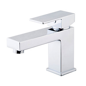 Wickes Kubic Basin Mixer Tap - Chrome