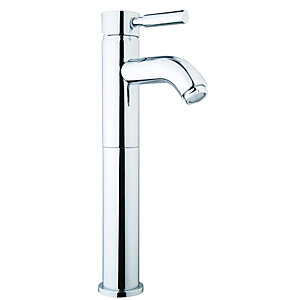 Wickes Rayo Tall Vanity Basin Mixer Tap - Chrome