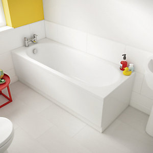 Luxury Reinforced End Bath Panel - White 750mm