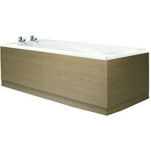Wickes Bath End Panels - Light Oak Effect 700mm