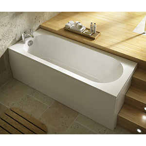 Wickes Terenzo Bath End Panel - White 700mm