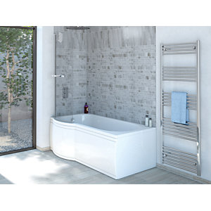 Wickes Valsina P Shaped Reversible Shower Bath Front Panel - 1500mm