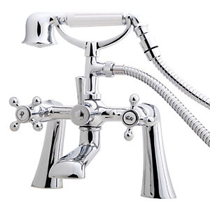 Wickes Classic Bath Shower Mixer Tap - Chrome