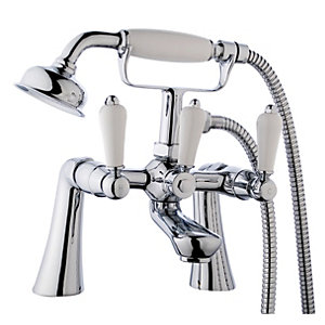 Wickes Enchanted Bath Shower Mixer Tap - Chrome