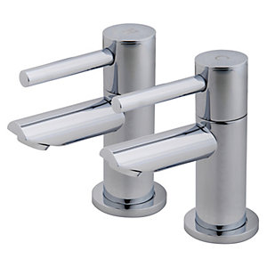 Wickes Mirang Bath Taps Chrome