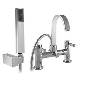 Wickes Salluzzo Bath Shower Mixer Tap - Chrome