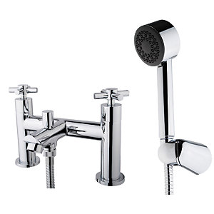 Wickes Trivor Bath Shower Mixer Tap - Chrome