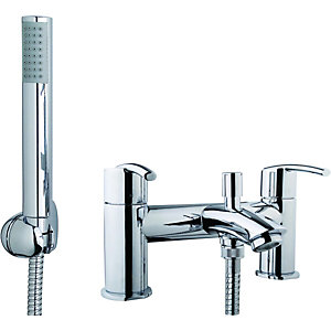 Wickes Versaille Bath Shower Mixer Tap - Chrome