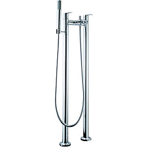 Wickes Versaille Floorstanding Bath Shower Mixer Tap - Chrome
