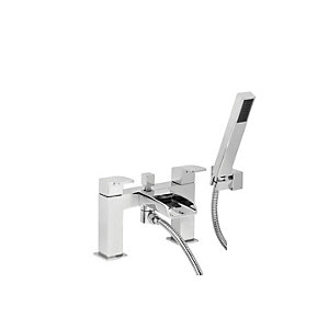 Wickes Waterfall Bath Mixer Tap With Shower Mixer - Chrome