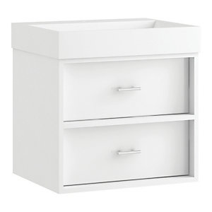 Wickes Alessano White Gloss Wall Hung Vanity Unit - 600mm