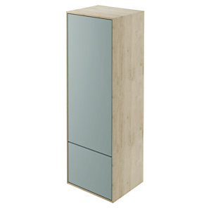 Wickes Eli Oak & Fjord Wall Hung Tall Tower Unit - 400 mm