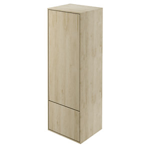 Wickes Eli Oak Wall Hung Tall Tower Unit - 400 mm