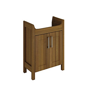 Wickes Frontera Walnut Free Standing Vanity Unit - 600mm