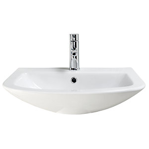 Wickes Inca Ceramic Basin Only - 600mm