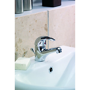 Wickes Rhine Basin & Bath Tap Pack - Chrome