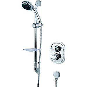 Wickes Tormelli Recessed Thermostatic Mixer Shower & Adjustable Riser Kit